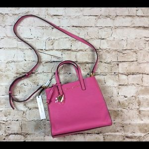 Marc Jacobs Mini Grind Tote Crossbody Leather Pink